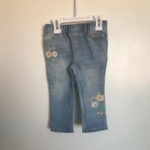 GAP Baby Flower Jeggings - Size 18-24 Months